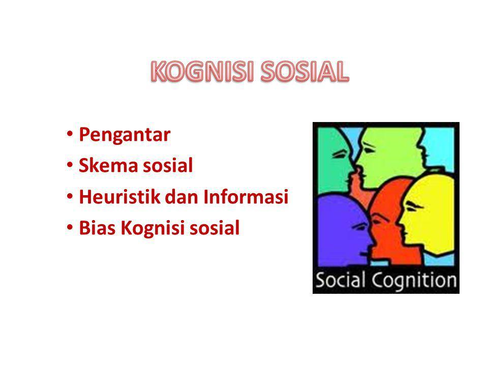 Pengantar Skema sosial Heuristik dan Informasi Bias Kognisi sosial