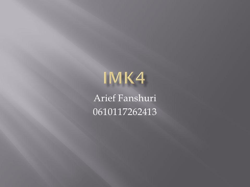 Arief Fanshuri 0610117262413