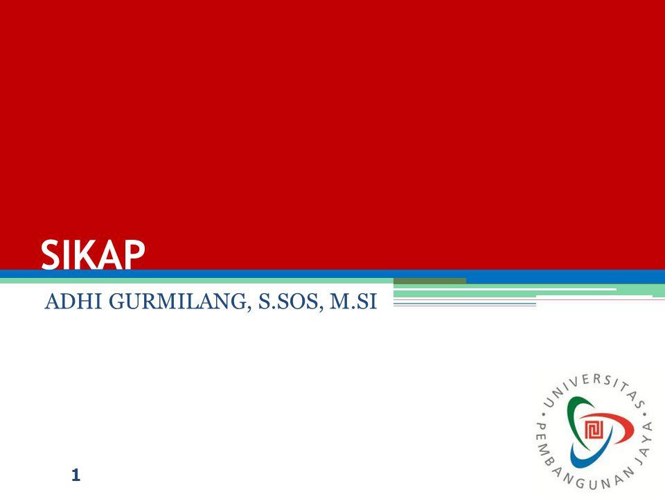SIKAP ADHI GURMILANG, S.SOS, M.SI 1