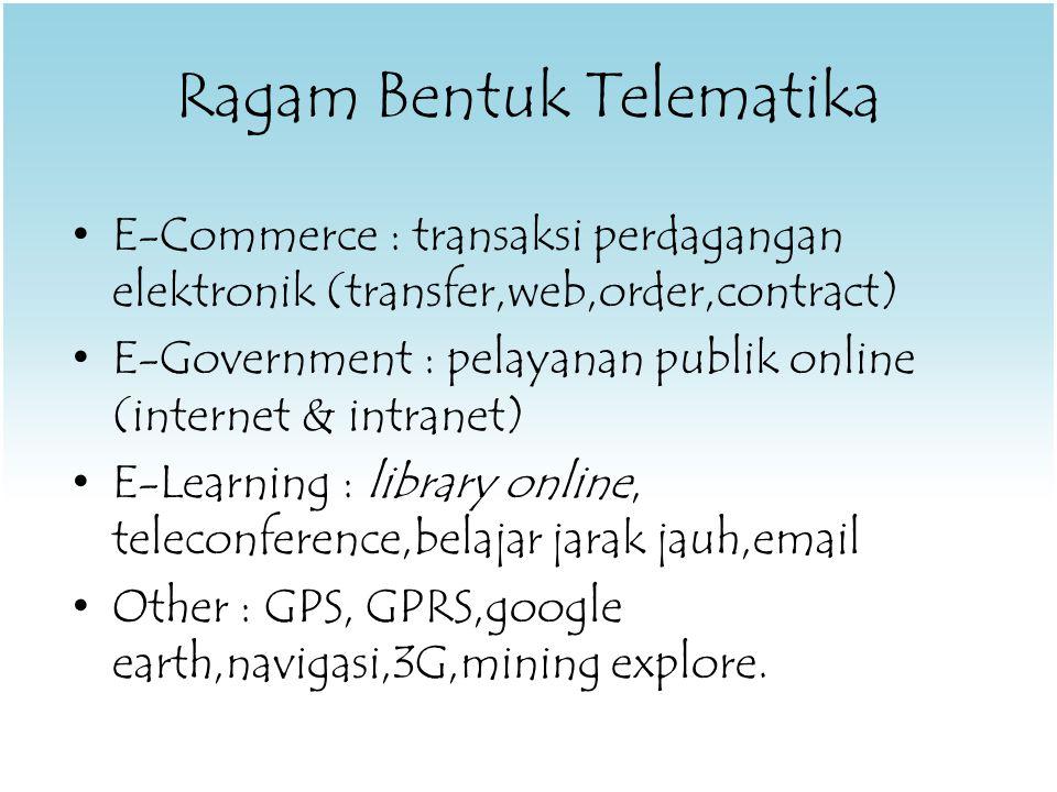 Pembinaan Telekomunikasi Dikuasai negara, pembinaan oleh Pemerintah  Menteri Meliputi, – Penetapan peraturan & kebijakan, – pengawasan, dan pengendalian.