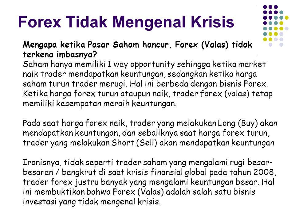 Mengapa ketika Pasar Saham hancur, Forex (Valas) tidak terkena imbasnya.
