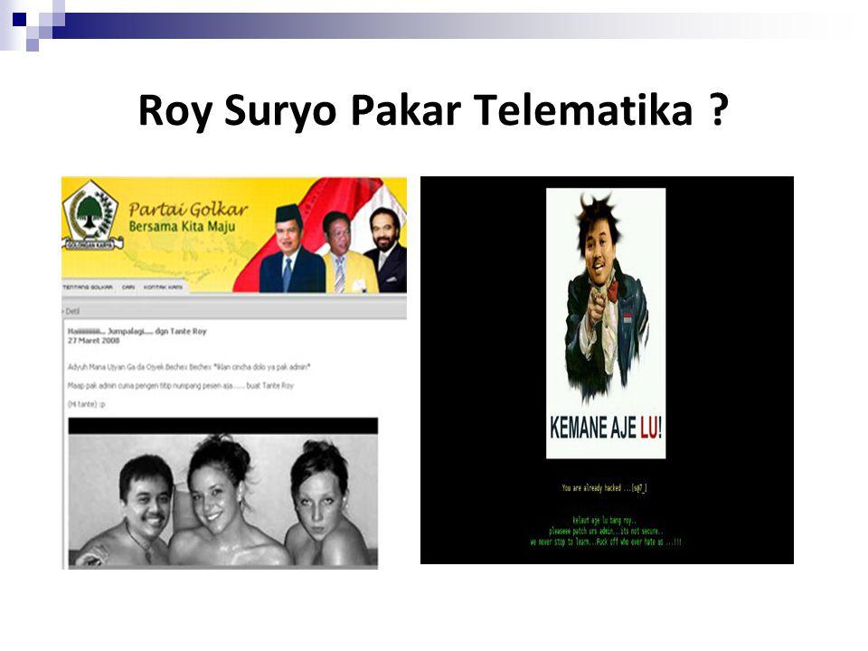 Roy Suryo Pakar Telematika ?