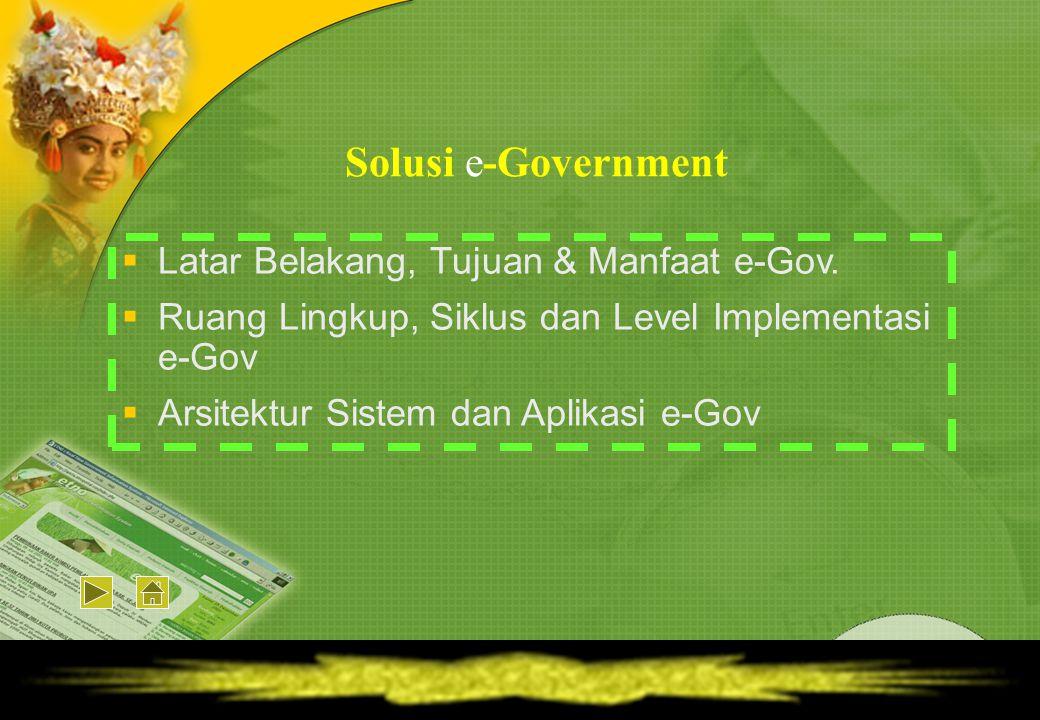  Bencana Gempa & Tsunamai di NAD telah meluluhlantakan mayoritas sendi-sendi kehidupan serta infrastruktur Pemerintahan.