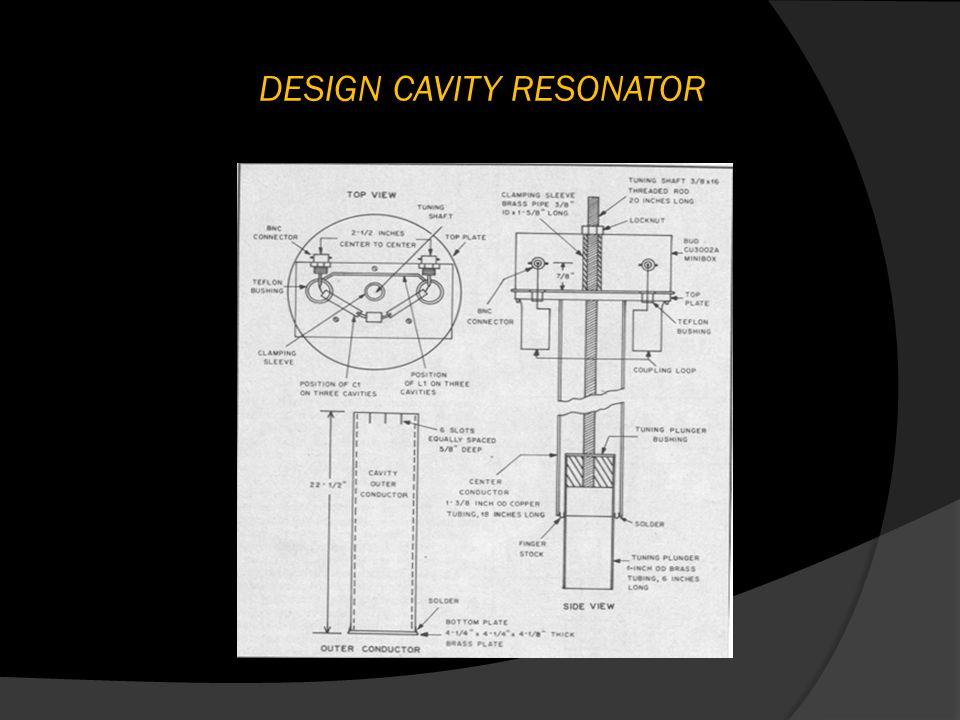 DESIGN CAVITY RESONATOR