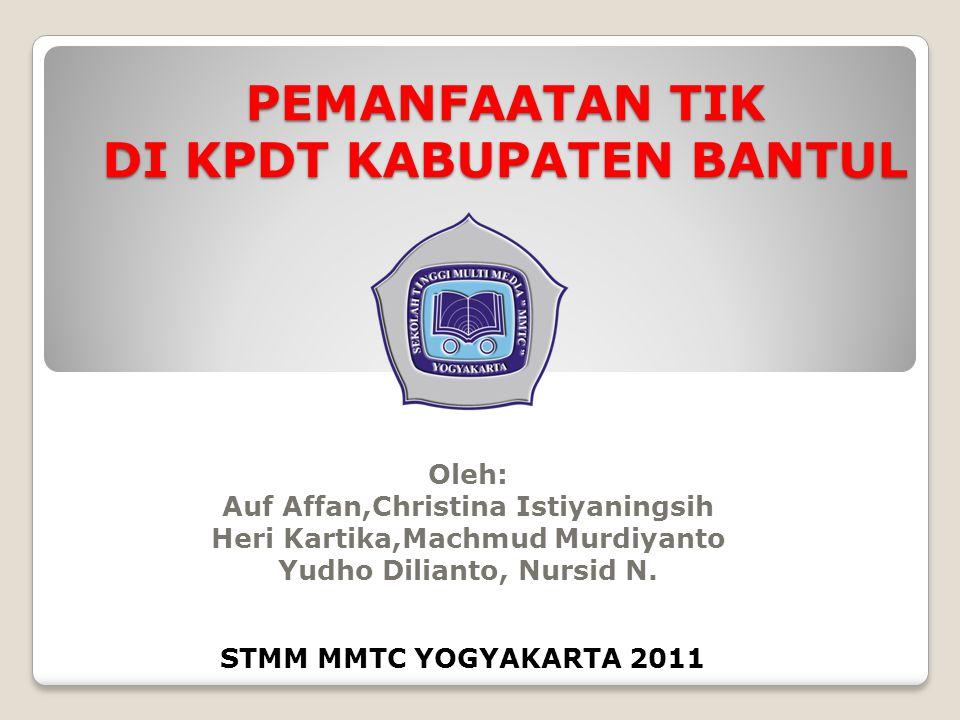 VISI dan MISI PDT Kab.