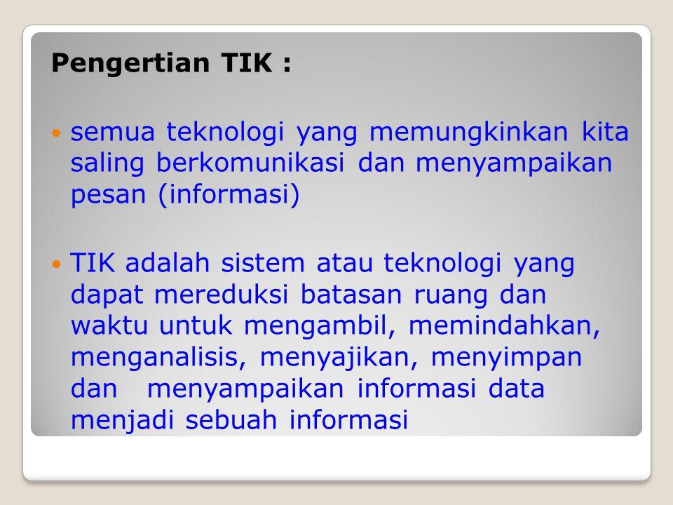 KONDISI SAAT INI Implementasi TIK di Kabupaten Bantul : 1.