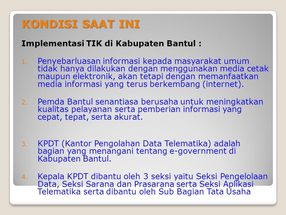 Kegiatan yang sedang berlangsung di PDT Kabupaten Bantul saat ini 1.