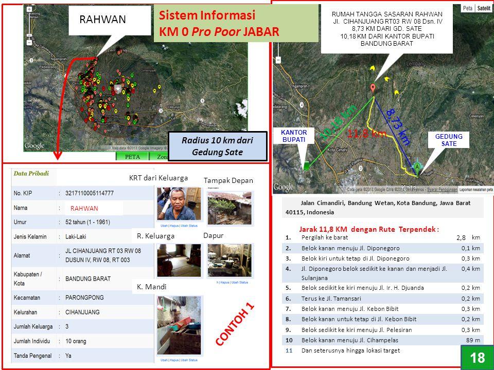 Jalan Cimandiri, Bandung Wetan, Kota Bandung, Jawa Barat 40115, Indonesia 11,8 km – sekitar 2 jam 39 menit 1.Pergilah ke barat28 km 2.Belok kanan menu