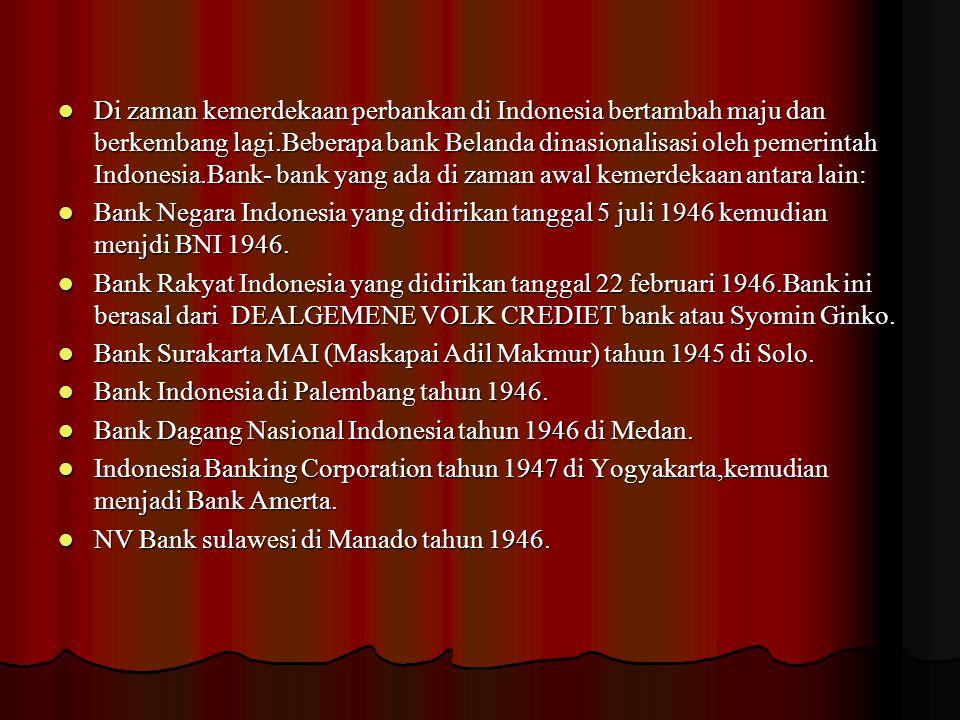 Bank Dagang Indonesia NV di Banjarmasin tahun 1949.