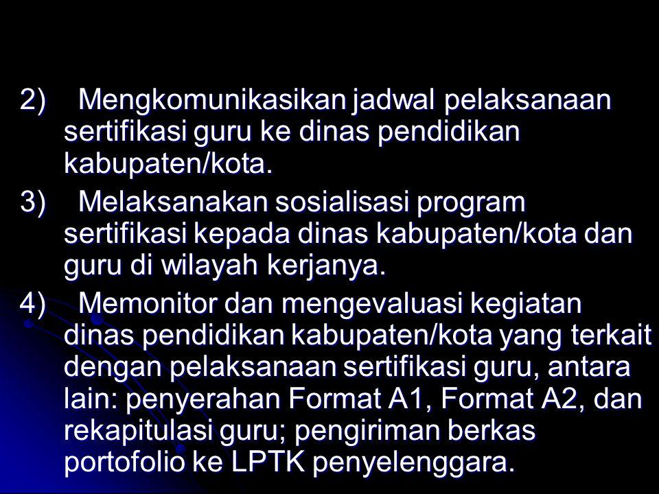 Dinas pendidikan provinsi melakukan hal-hal sbb.