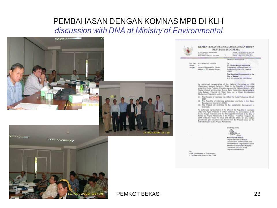 PEMKOT BEKASI23 PEMBAHASAN DENGAN KOMNAS MPB DI KLH discussion with DNA at Ministry of Environmental