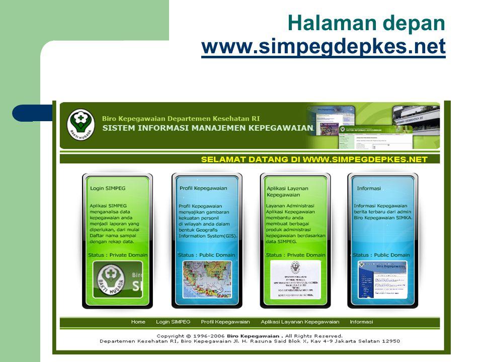 Halaman depan www.simpegdepkes.net www.simpegdepkes.net