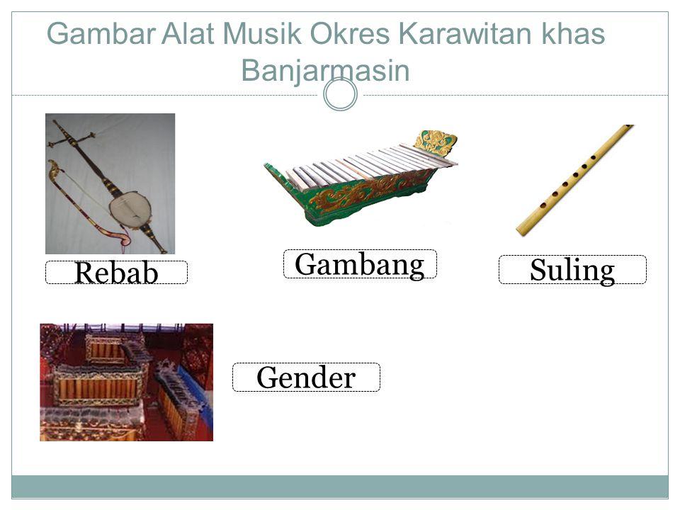 Musik Daerah Kalimantan Musik daerah kalimantan banyak sekali ragamnya antara lain Banjarmasin dan Suku Dayak. Daerah Banjarmasin mempunyai okres Kara