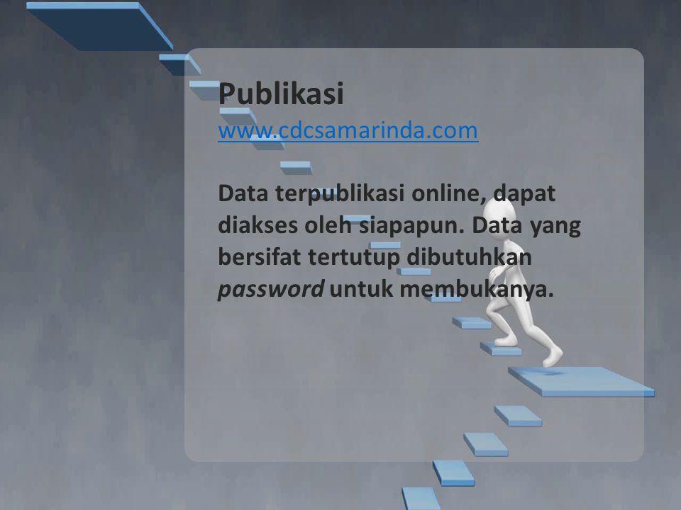 Publikasi www.cdcsamarinda.com Data terpublikasi online, dapat diakses oleh siapapun.