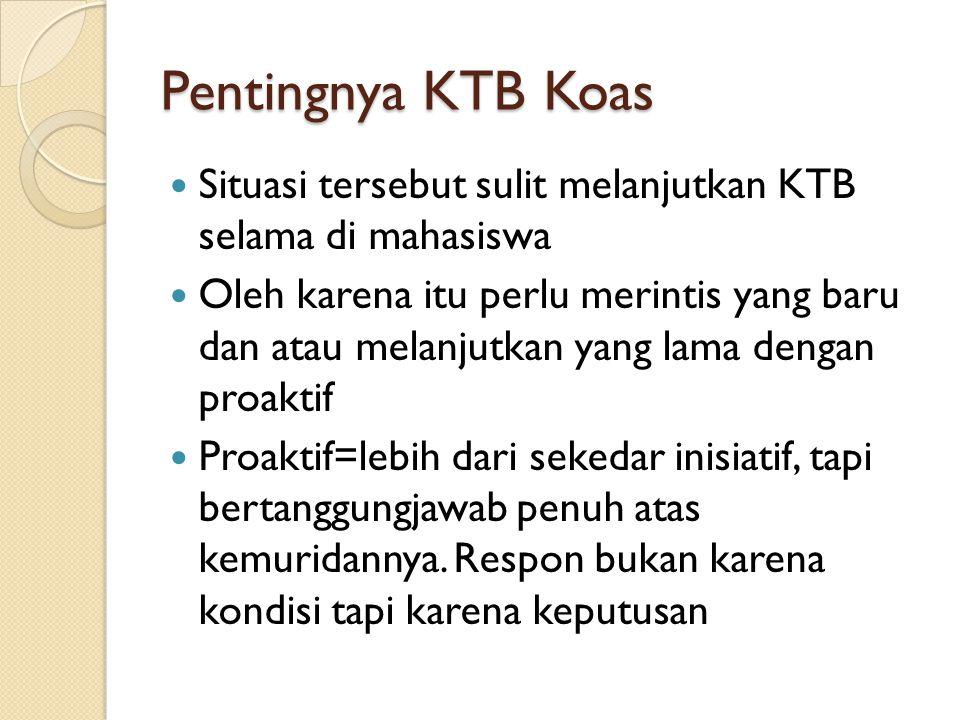 Pentingnya KTB dalam Pelayanan Pemuridan Karena pemuridan dalam KK dilakukan dengan: Intentional Individual Inspired Interdependent