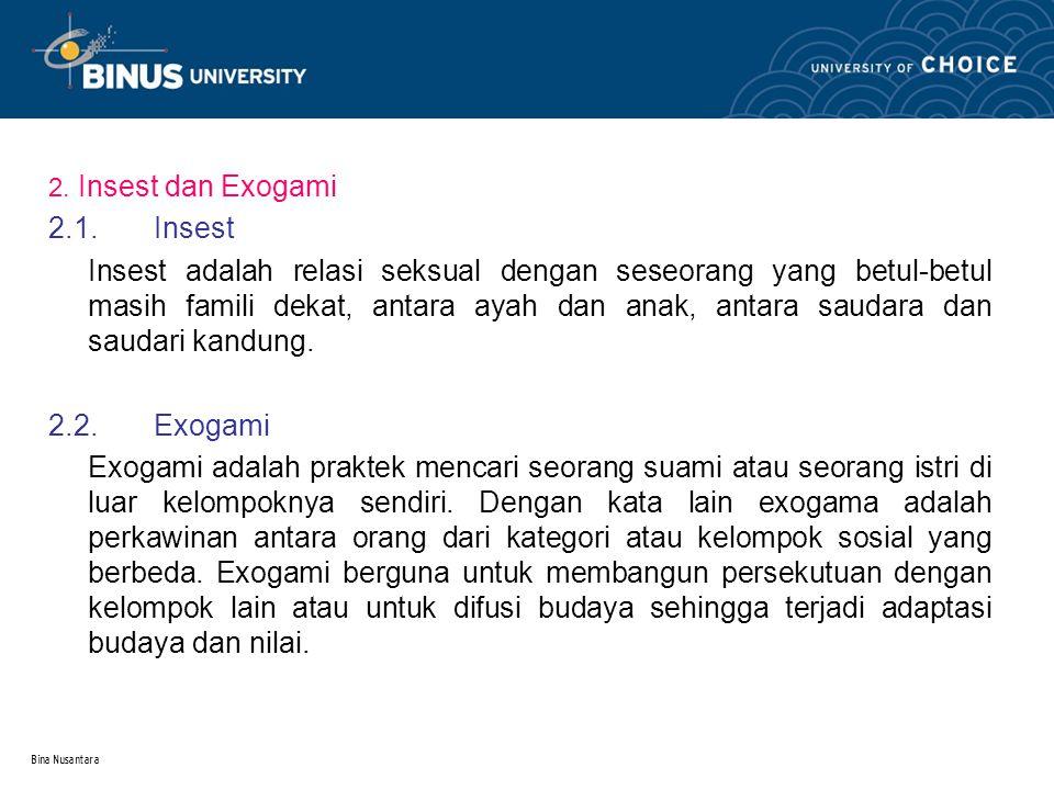 Bina Nusantara 3.TABU.Tabu berasal dari kata bahasa polinesia yang berarti terlarang.