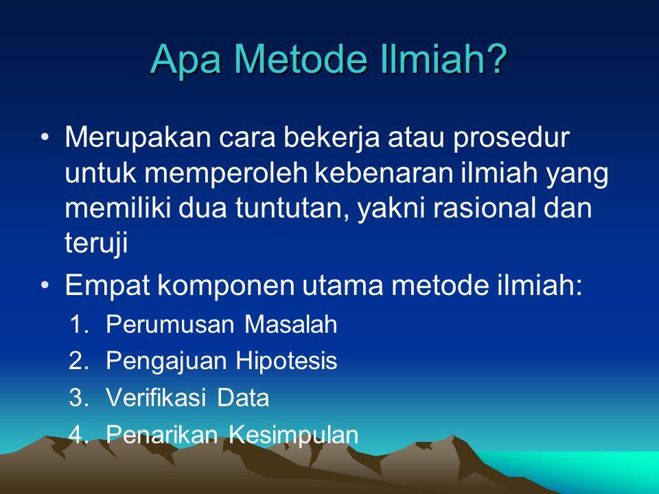 Apa Metode Ilmiah.