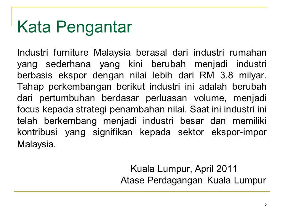 5 Kata Pengantar Industri furniture Malaysia berasal dari industri rumahan yang sederhana yang kini berubah menjadi industri berbasis ekspor dengan ni