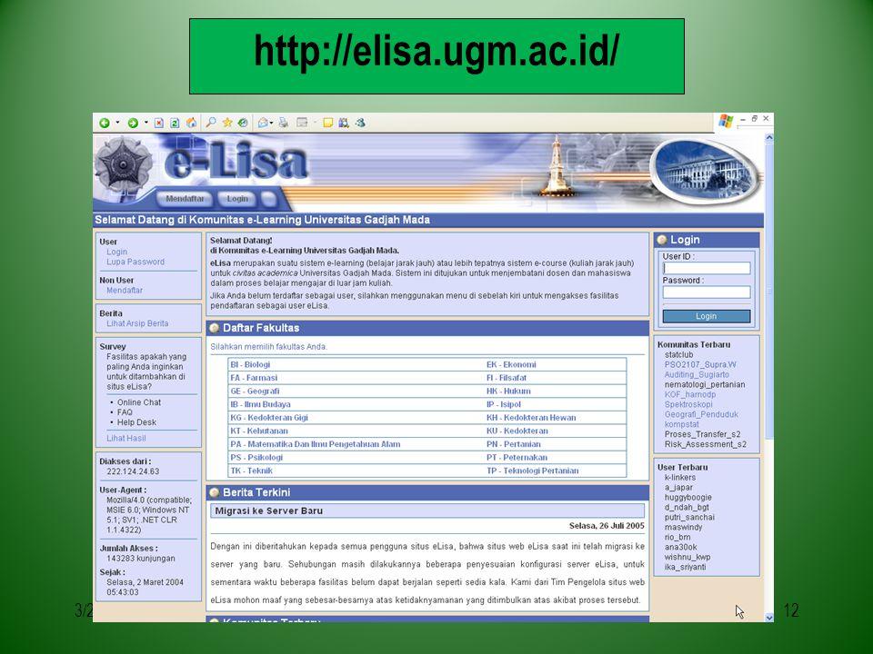 3/29/201512 http://elisa.ugm.ac.id/