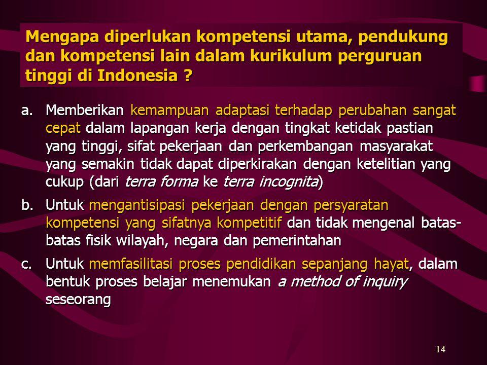 13 Apa wujud pengakuan kompetensi seseorang ? Pengakuan kompetensi seseorang dinyatakan dalam bentuk sertifikat kompetensi yang dapat diberikan oleh p