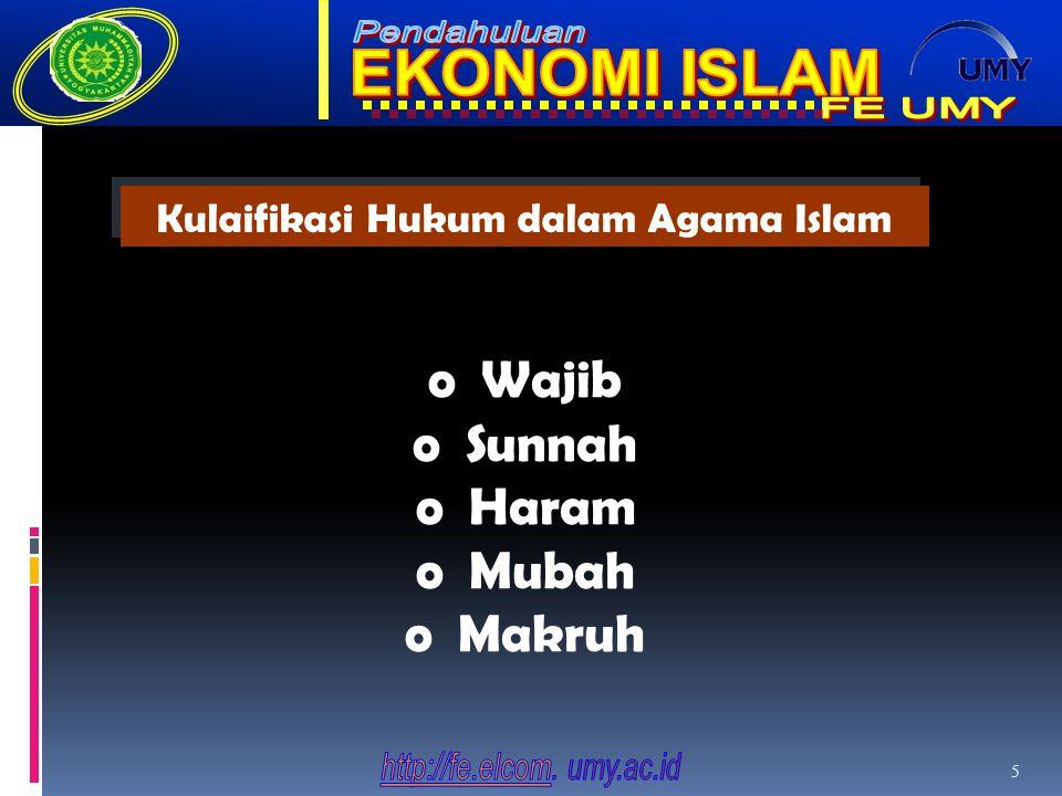 5 oWajib oSunnah oHaram oMubah oMakruh Kulaifikasi Hukum dalam Agama Islam