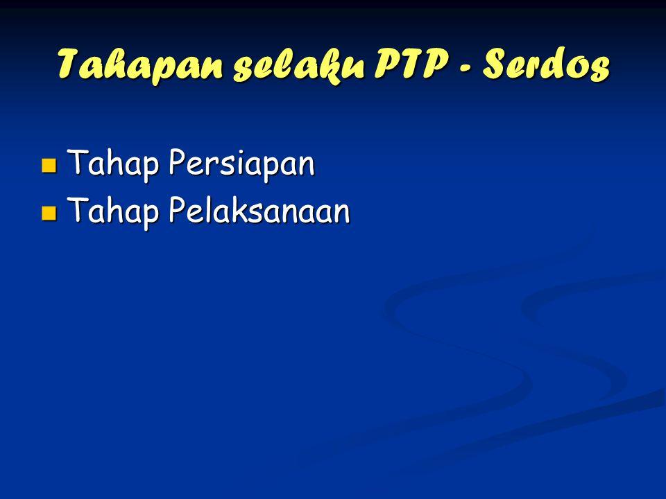Tahapan selaku PTP - Serdos Tahap Persiapan Tahap Persiapan Tahap Pelaksanaan Tahap Pelaksanaan
