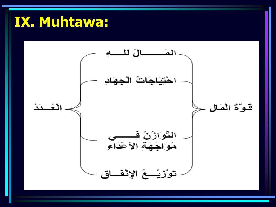 IX. Muhtawa: