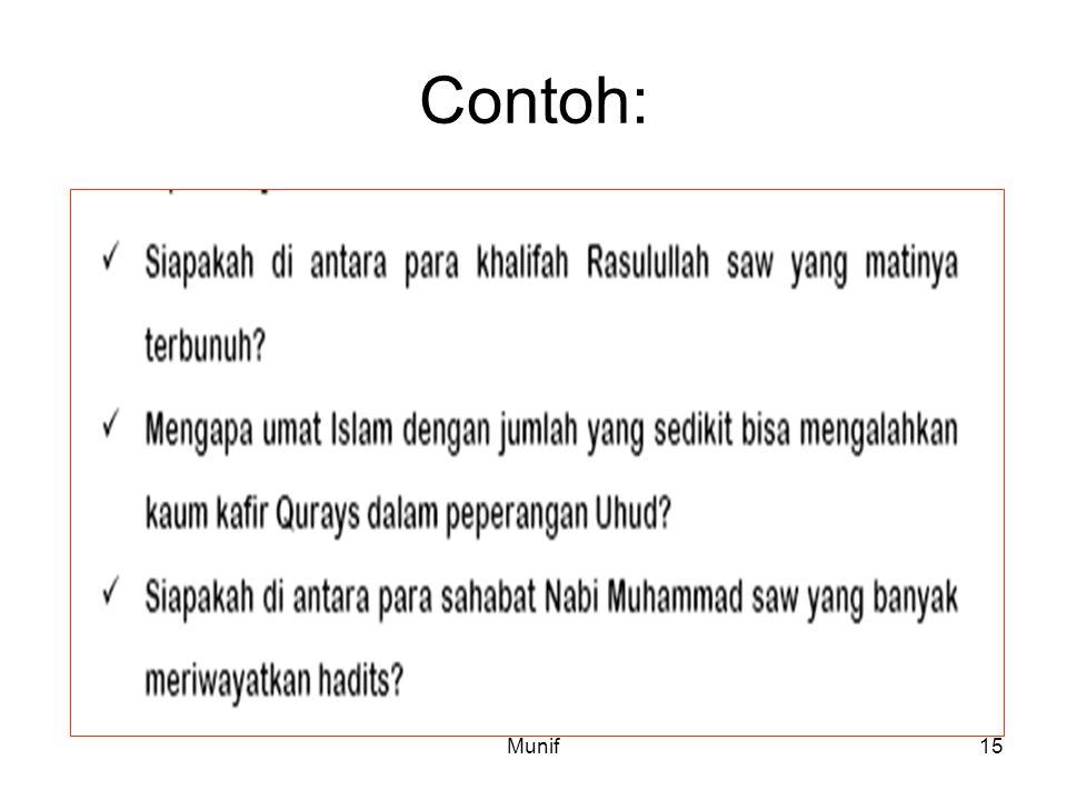 Munif15 Contoh: