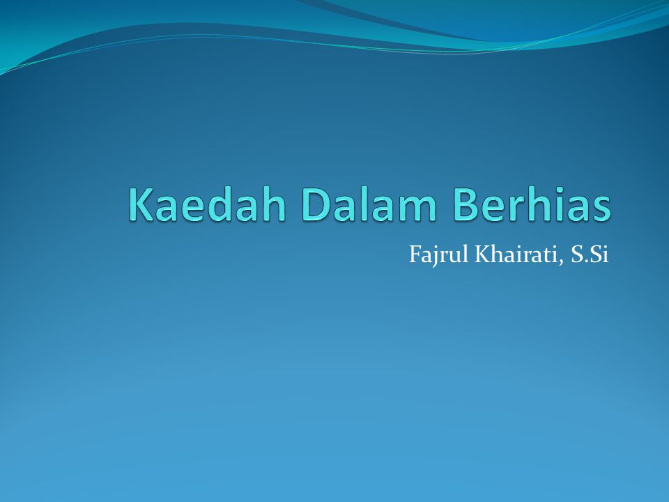 Fajrul Khairati, S.Si