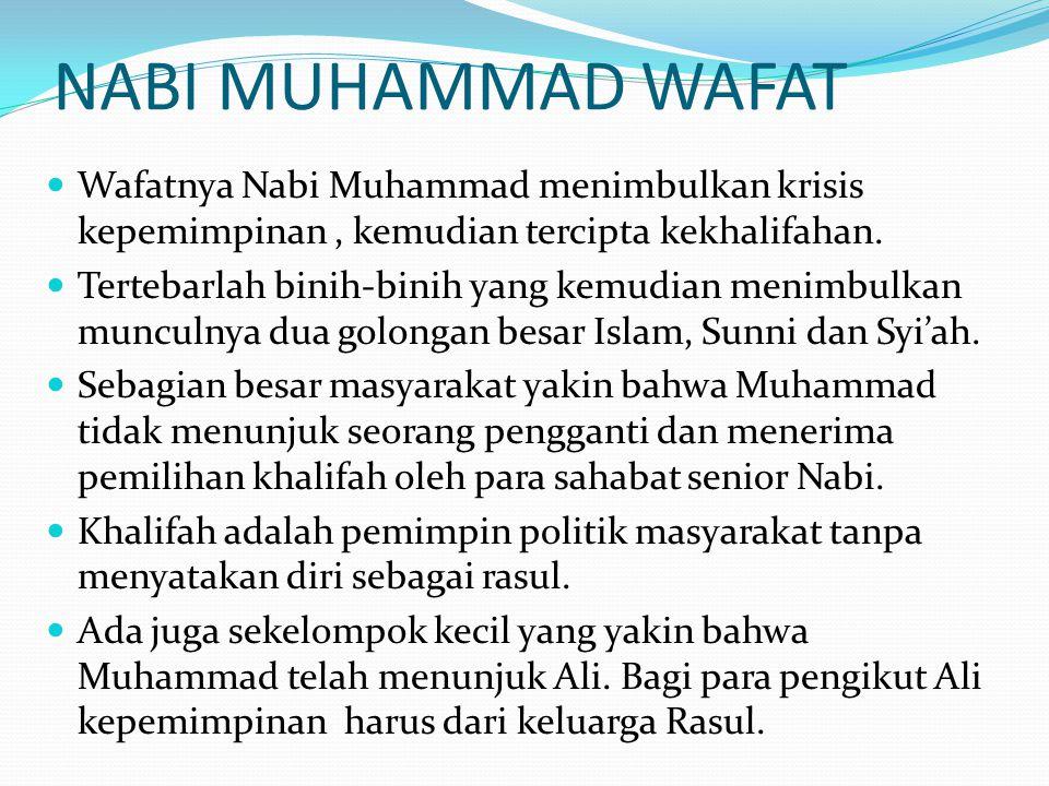  Sejalan dengan tradisi suku mereka, sepeninggalan Muhammad, mereka berkumpul di sebuah tempat bernama Saqifah bani Sa'ida.
