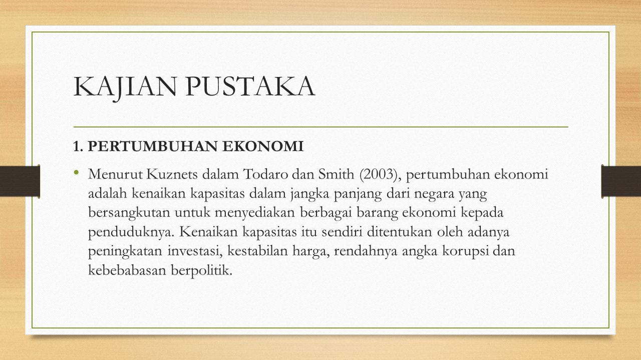 TUJUAN PENELITIAN Untuk mengetahui perkembangan FDI, korupsi, keterbukaan ekonomi, kebebasan politik, dan pertumbuhan ekonomi negara anggota ASEAN tah