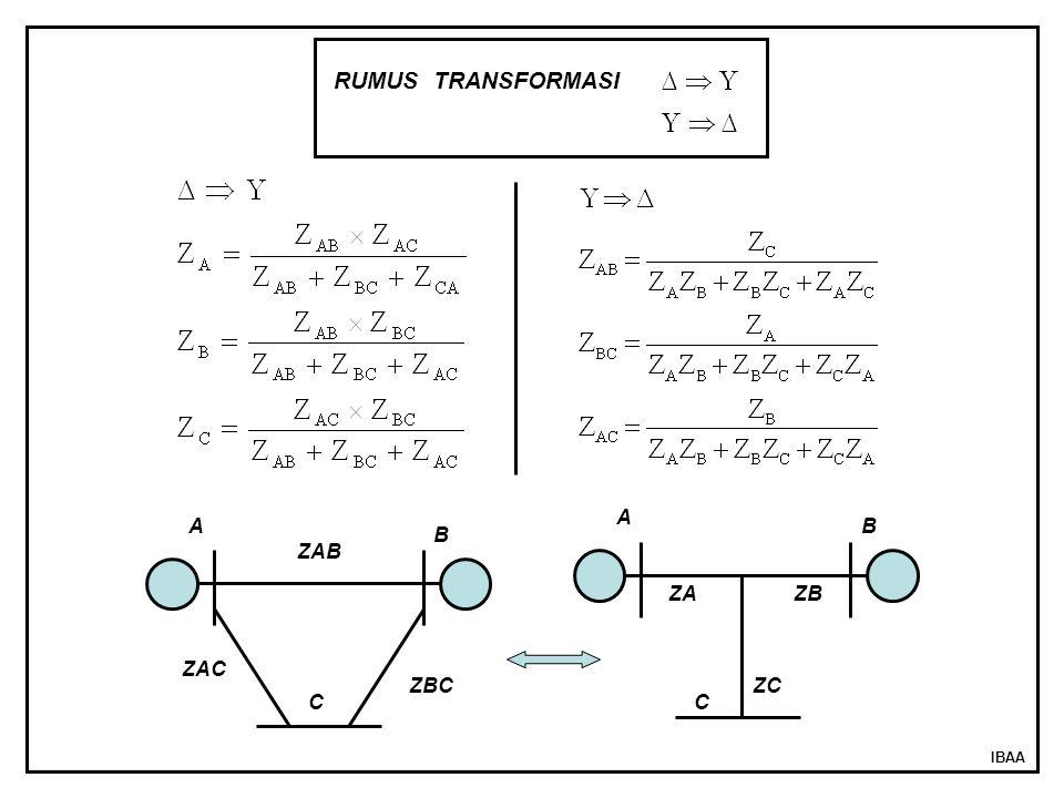 IBAA RUMUS TRANSFORMASI ZAB ZBC ZAC A B C ZA A B ZB ZC C