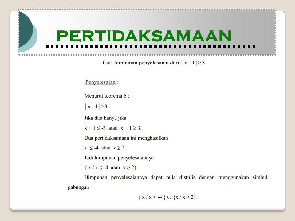 Modul Pembelajaran Matematika Kelas X semester 1 PERTIDAKSAMAAN Modul Pembelajaran Matematika Kelas X semester 1 PERTIDAKSAMAAN