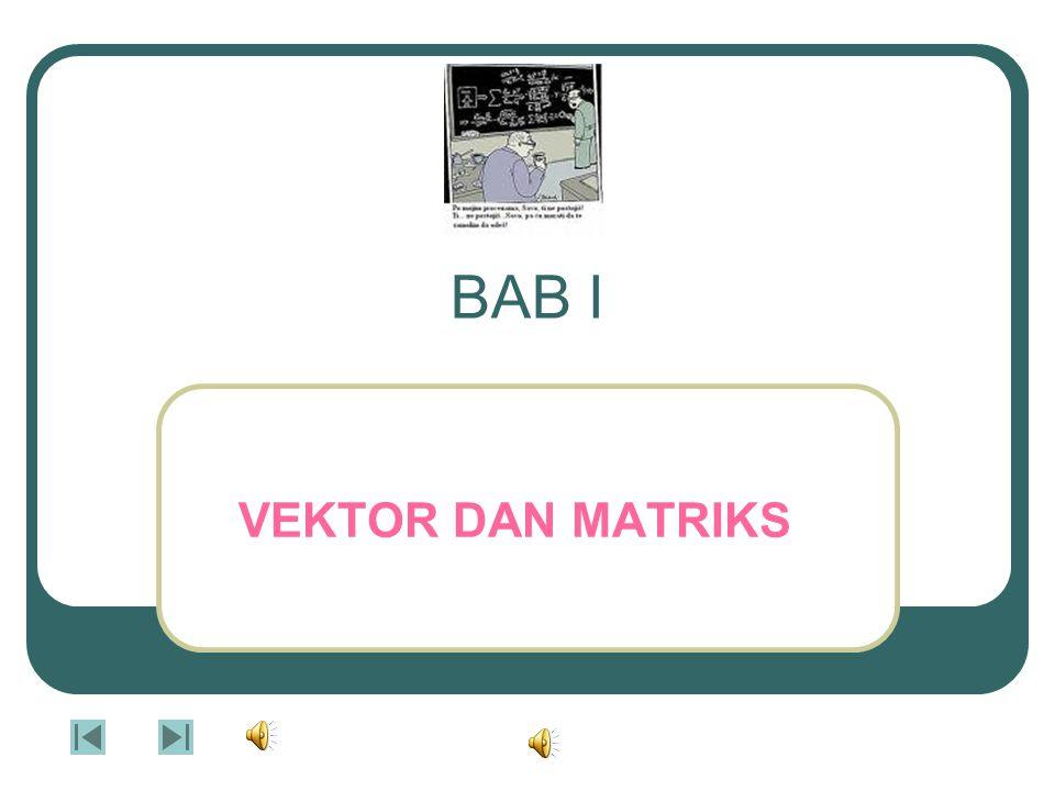 BAB I VEKTOR DAN MATRIKS