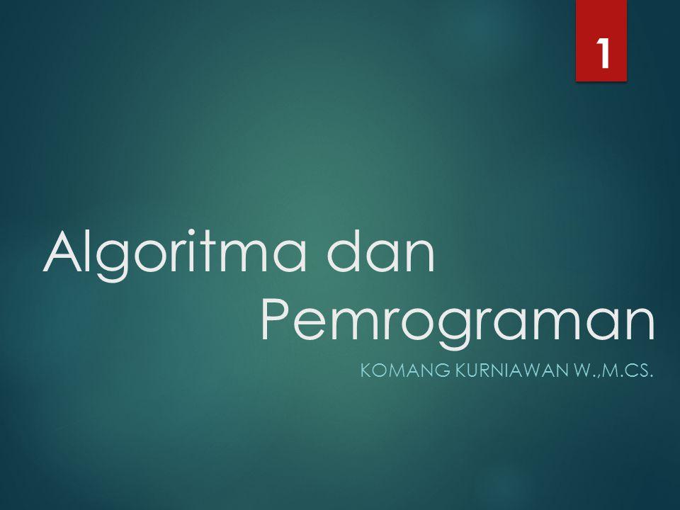 Algoritma dan Pemrograman KOMANG KURNIAWAN W.,M.CS. 1
