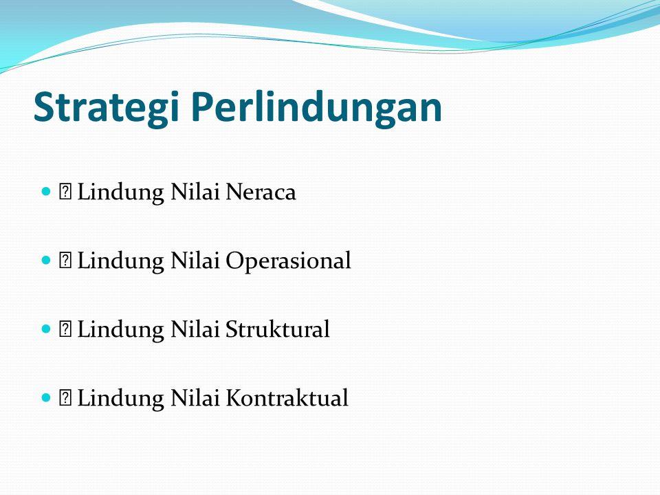 Strategi Perlindungan  Lindung Nilai Neraca  Lindung Nilai Operasional  Lindung Nilai Struktural  Lindung Nilai Kontraktual