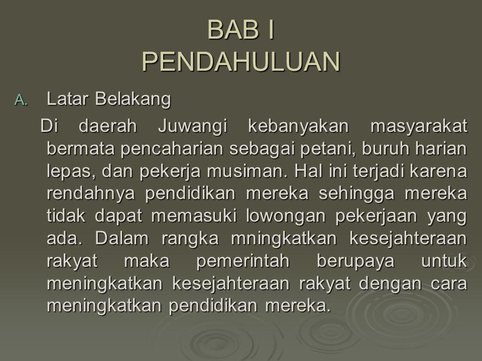 BAB I PENDAHULUAN A.