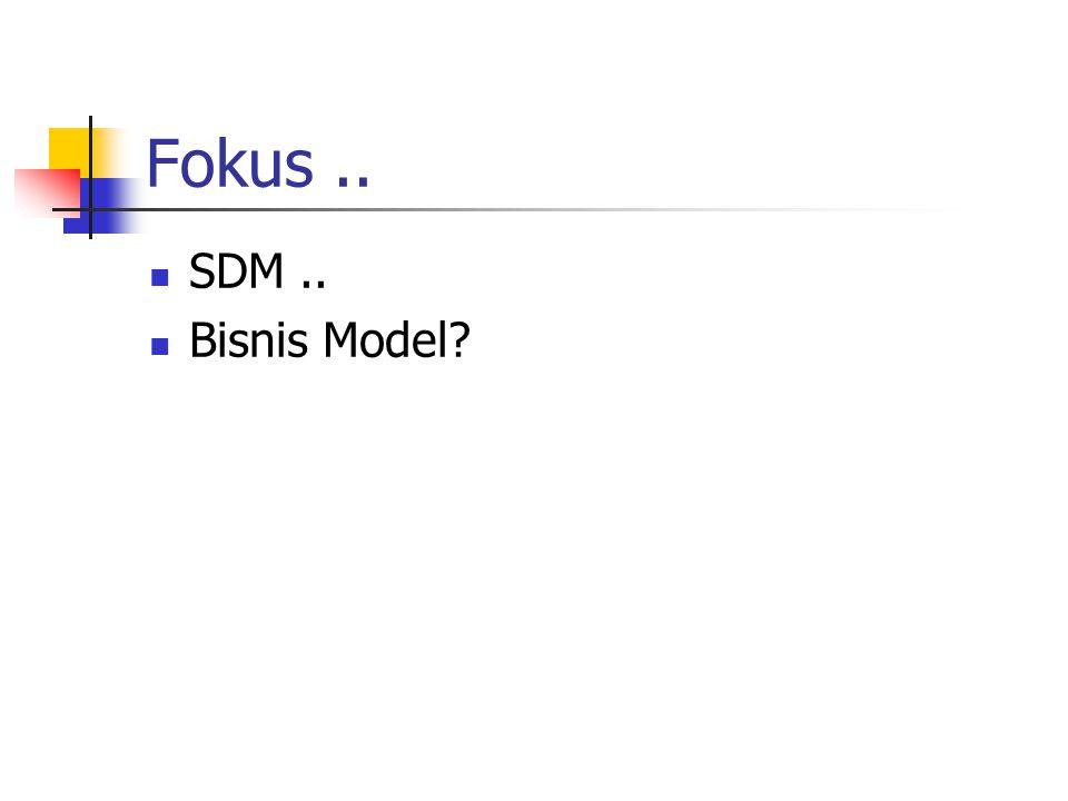 Fokus.. SDM.. Bisnis Model