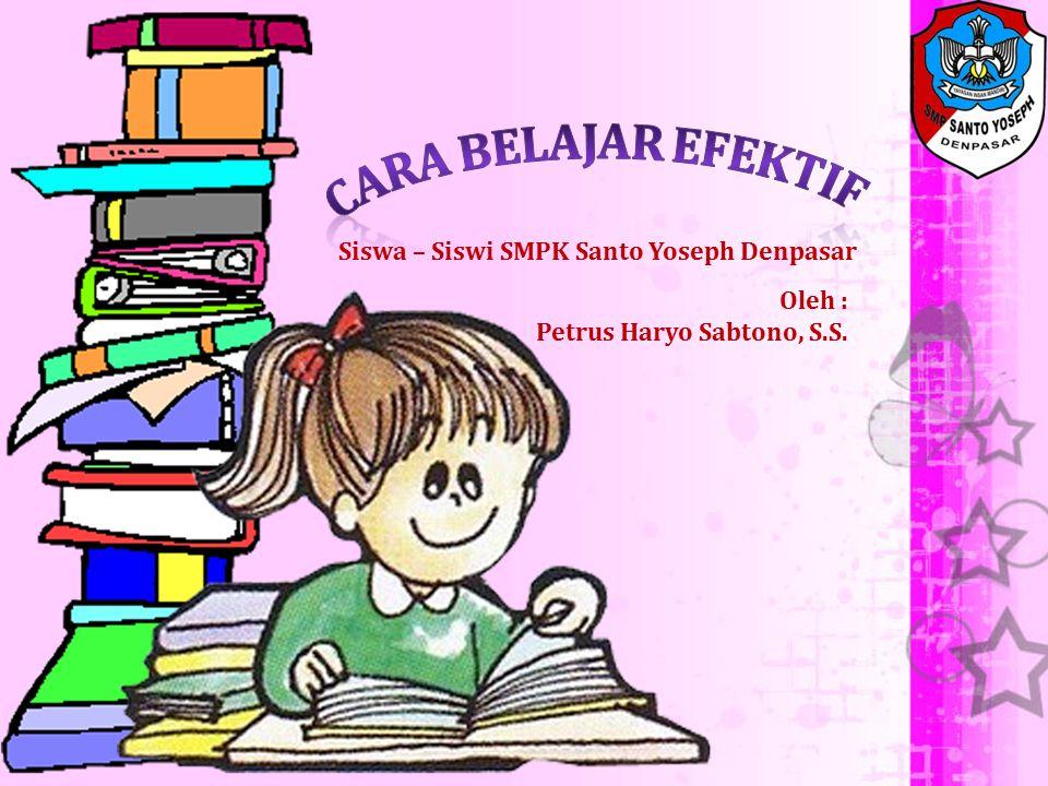 Siswa – Siswi SMPK Santo Yoseph Denpasar Oleh : Petrus Haryo Sabtono, S.S.