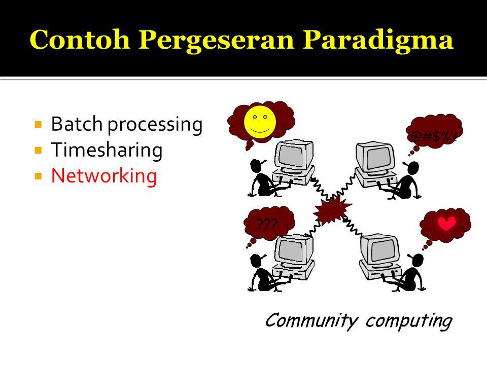  Batch processing  Timesharing  Networking . @#$% .