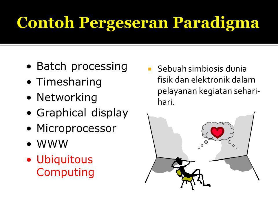 Sebuah simbiosis dunia fisik dan elektronik dalam pelayanan kegiatan sehari- hari.