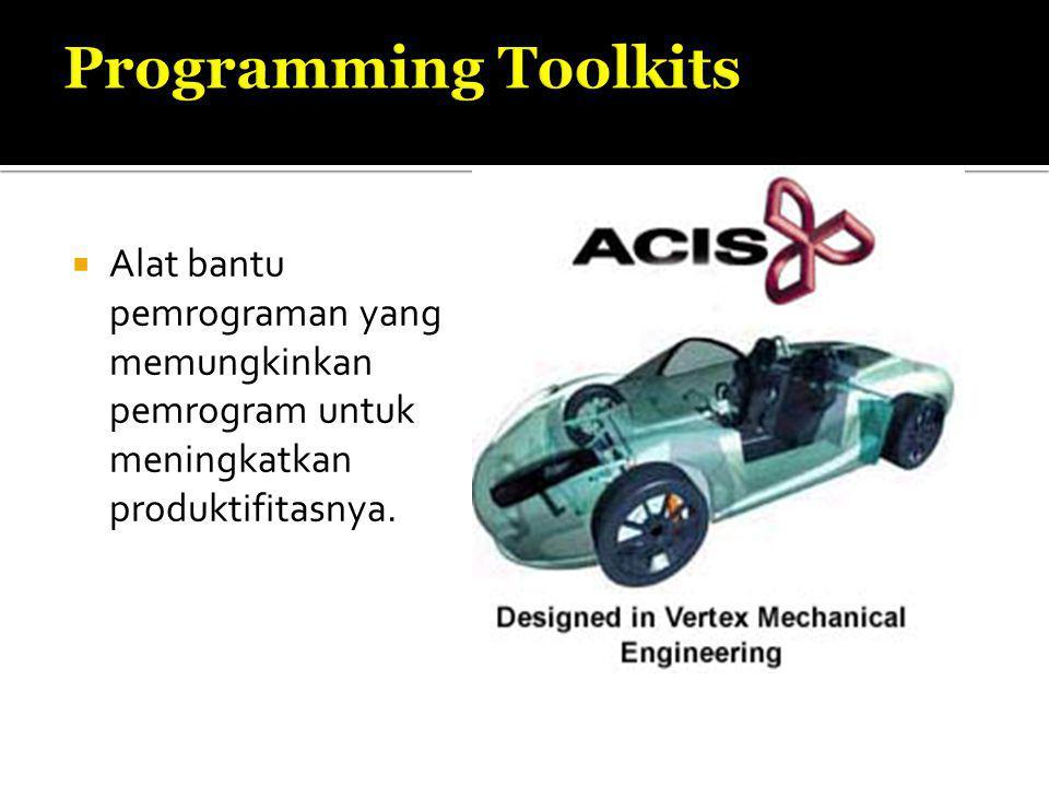  Alat bantu pemrograman yang memungkinkan pemrogram untuk meningkatkan produktifitasnya.