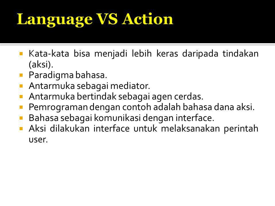  Kata-kata bisa menjadi lebih keras daripada tindakan (aksi).