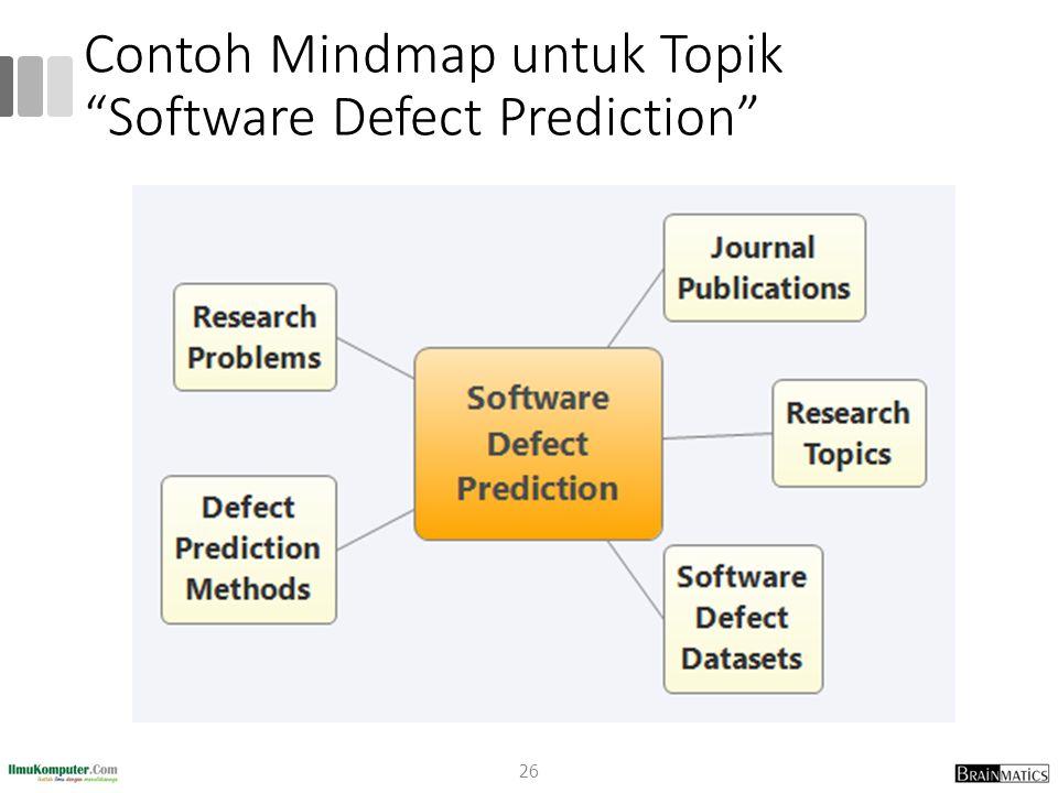 "Contoh Mindmap untuk Topik ""Software Defect Prediction"" 26"