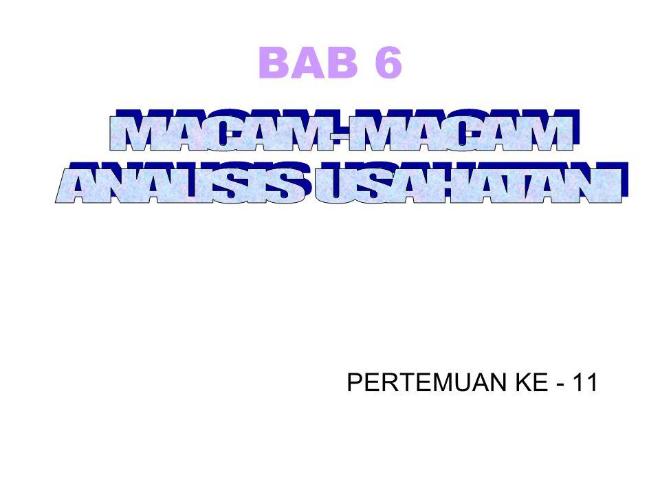 BAB 6 PERTEMUAN KE - 11