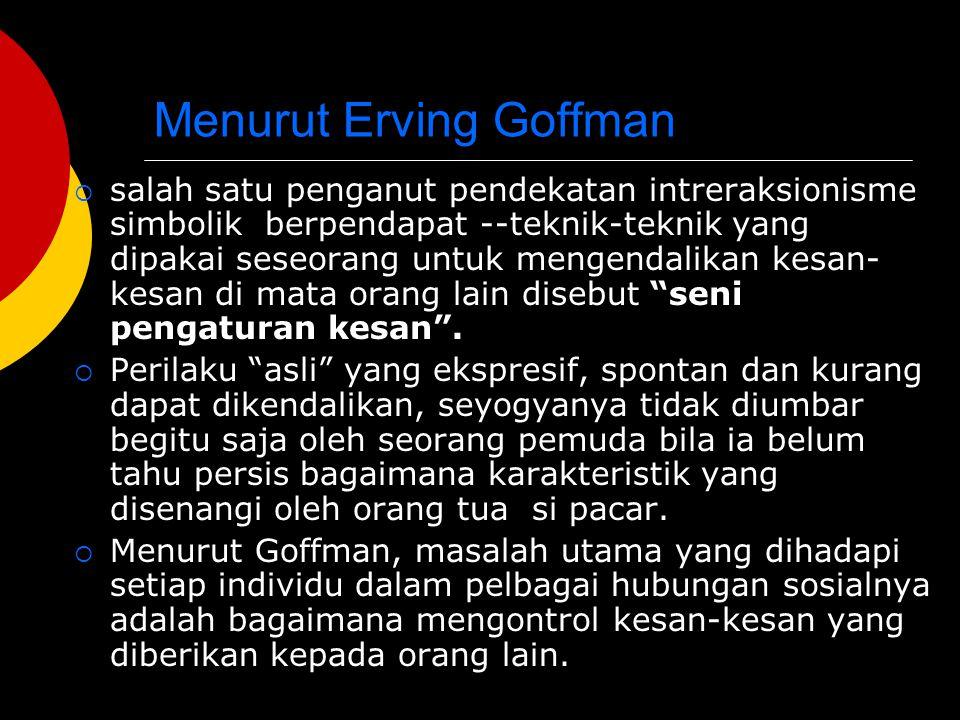 Salah satu konsep Goffman yang terkenal adalah apa yang disebut Model Dramaturgi.