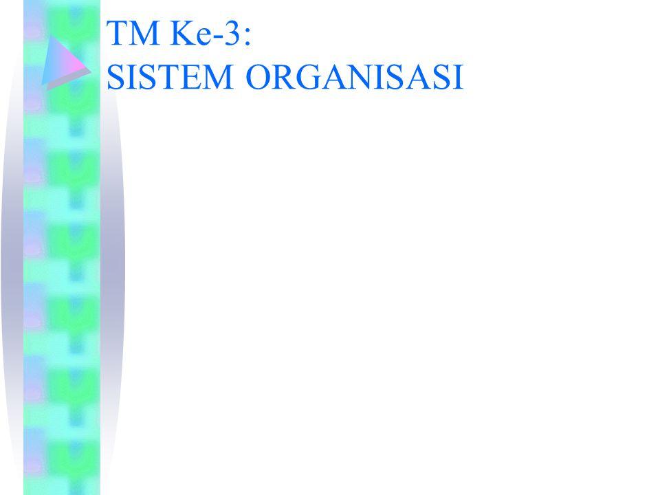 TM Ke-3: SISTEM ORGANISASI
