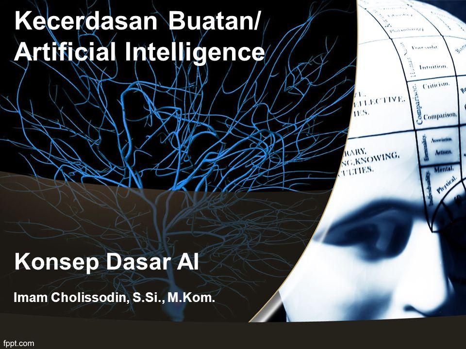 Konsep Dasar AI Imam Cholissodin, S.Si., M.Kom. Kecerdasan Buatan/ Artificial Intelligence