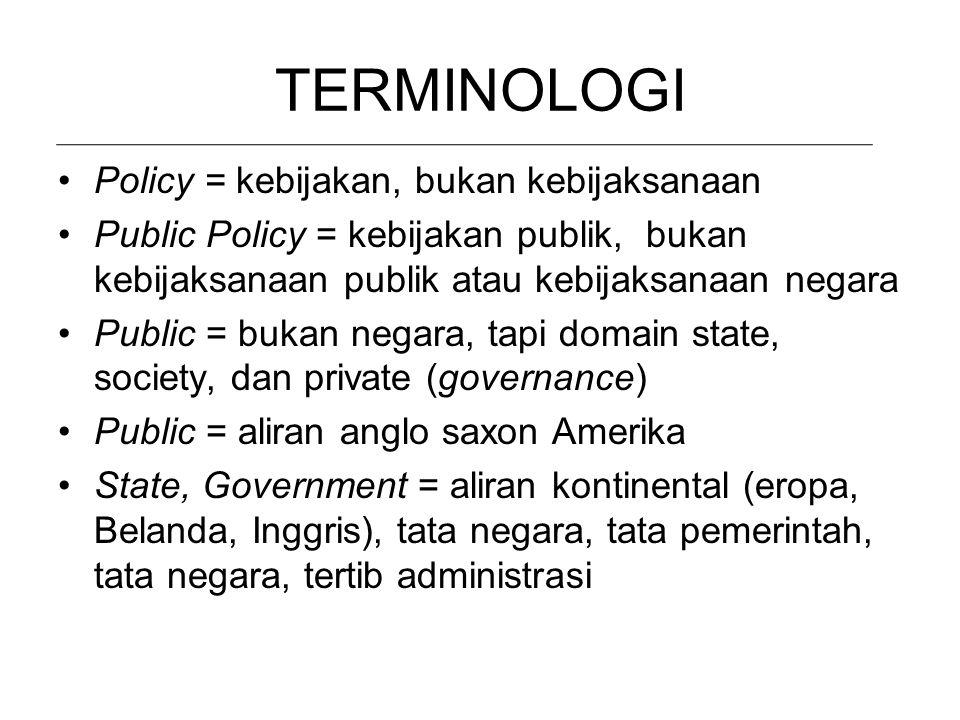 ORLA, ORBA = Kebijakan Rezim ORDE REFORMASI = Kebijakan Publik/Negara Jadi, Ilmu Kebijakan Publik di Indonesia sangat menantang sebagai sesuatu yang b