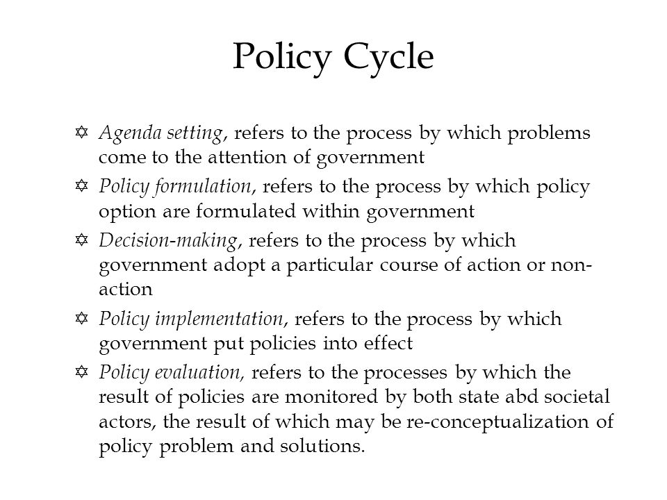 Policy Study vs Policy Analysis .